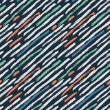 Abstract geometric seamless hand drawn pattern. Modern grunge texture. Colorful brush painted background. - 209629787
