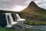 Kirkjufell mountain and waterfall in Iceland