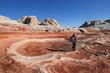 Photographer at White Pocket, Vermilion Cliffs National Monument, AZ