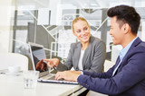 Business people in computer training