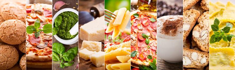food collage of italian cuisine © Nitr