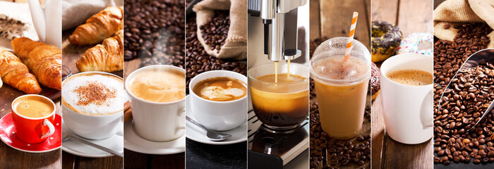 coffee collage of various cups © Nitr