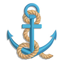 A Ship's Anchor  A Rope And Ship  Graphics To Design Sticker