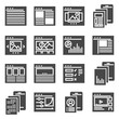 Vector web site page templates interface collection icon