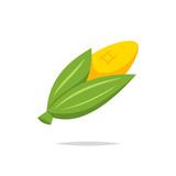 Corn icon vector isolated illustration - 209650919