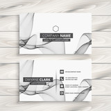 white abstract business card template - 209651530