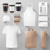Restaurant and cafe corporate identity template - 209652182