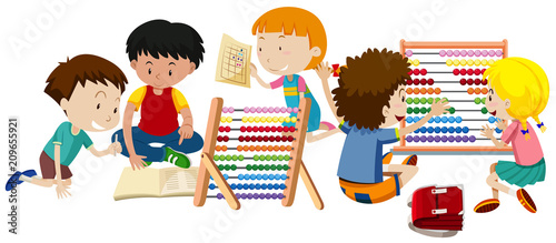 A Group of Children Learning - 209655921