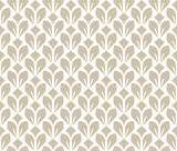 Flower geometric pattern. Seamless vector background. White and beige ornament. Ornament for fabric, wallpaper, packaging. Decorative print