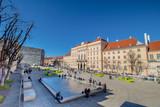 Das Museumsquartier an einem Frühlingstag in Wien, Österreich - 209660151