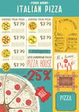 Italian Pizza Menu Template - 209663189