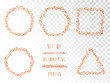 Vector set of decorative frames with hearts. - 209667940