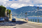 Road along scenic Como lake, Lombardy, Italy - 209670954