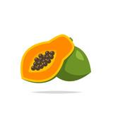 Papaya icon vector isolated illustration - 209674319