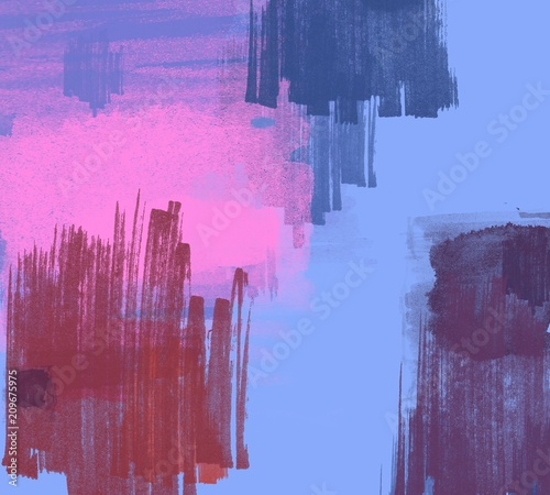 Fotobehang Crimson Abstract painting on canvas. Hand made art. Colorful texture. Modern artwork. Strokes of fat paint. Brushstrokes. Contemporary art. Artistic background image.