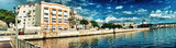 panoramic View of the bay and the malecon of Havana, Cuba