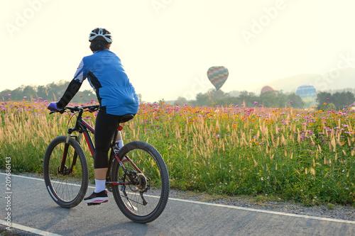Aluminium Zomer bicycle lene and flower