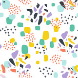seamless pattern with abstract forms ornament - 209697390