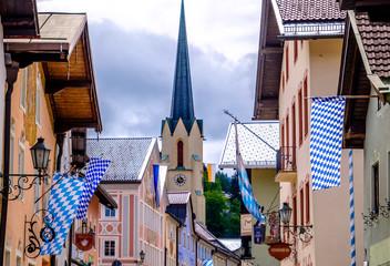 old town of garmisch-partenkirchen in germany