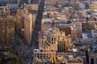 Aerial view of Manhattan skyline New York City