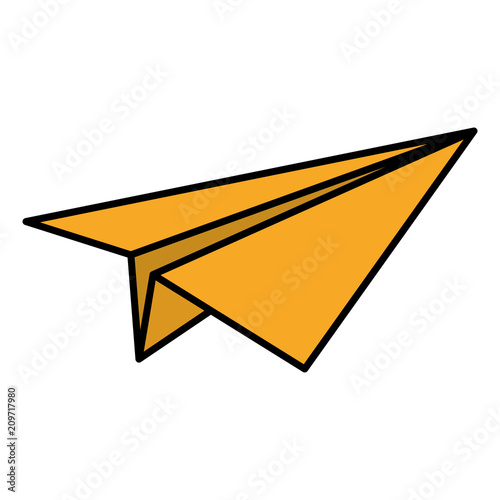 kolor origami papieru samolot zabawka projekt
