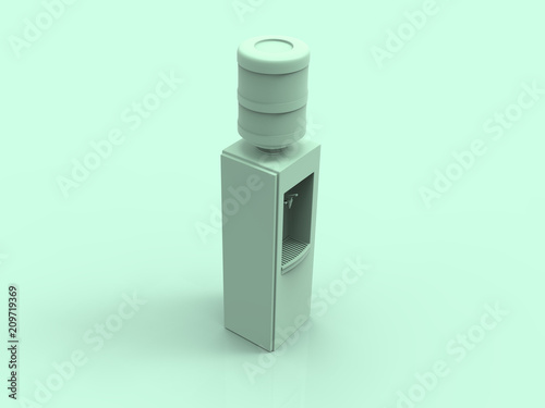 Dozownik wody pastelowy 3D render