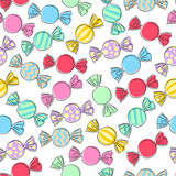 Colorful wrapped candies background. - 209721945