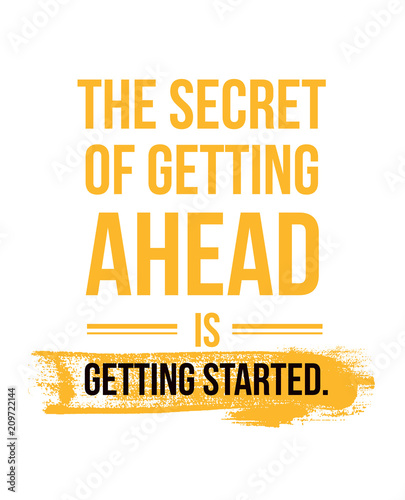 The secret of getting ahead design banner