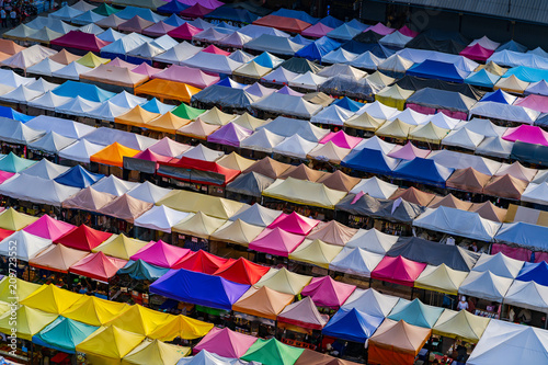 Fotobehang Bangkok Colorful night market in Thailand