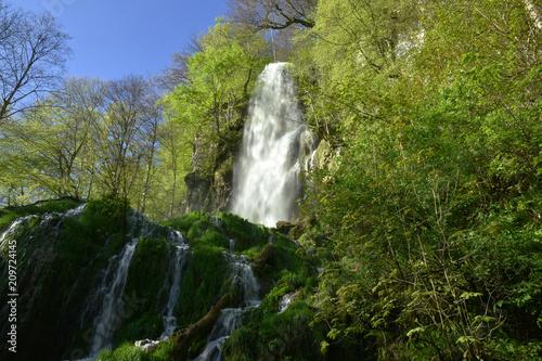 Leinwanddruck Bild Uracher Wasserfall; Bad Urach; Deutschland; Schwaebische Alb;