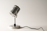 Retro style microphone in party or concert - 209725184