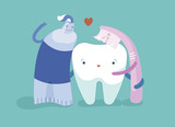 Toothpaste, toothbrush and tooth are friend together, dental concept. - 209726705
