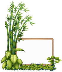 A Natural Bamboo Wooden Frame © GraphicsRF