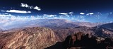 Martian landscape, Mars at sunset, Martian surface, panorama of Mars,