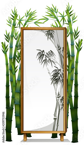 A Natural Bamboo Wooden Frame - 209753946