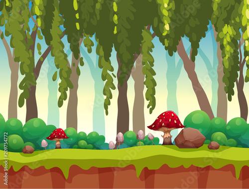 Fotobehang Kids A Fairy Tale Forest Landscape