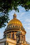 The dome of St. Isaac's Cathedral in St. Petersburg on a summer day - 209756782