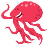 cute cartoon octopus animal character