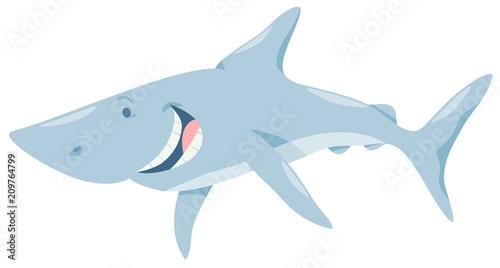 Fototapeta cartoon shark fish animal character