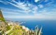 Leinwanddruck Bild - Aerial view of Faraglioni rocks from Monte Solaro at Capri, Italy