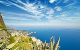 Aerial view of Faraglioni rocks from Monte Solaro at Capri, Italy - 209766727