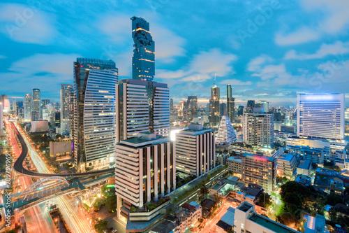 Fotobehang Bangkok Cityscape in middle of Bangkok,Thailand