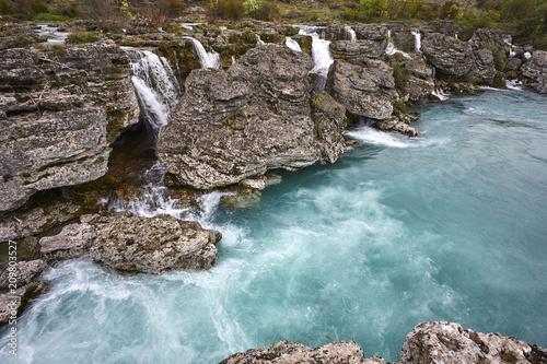 Aluminium Bergrivier mountain river in the Montenergo