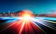 Leinwanddruck Bild - Motion speed city background