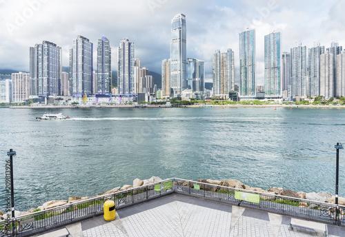 Linia horyzontu i schronienie Hong Kong miasto