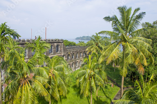 Foto Murales The museum old prison to Port Blair India