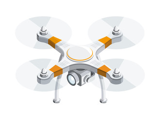 Drone Quadrocopter 3D isometric