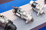 Starter motors of cars in store - 209829799