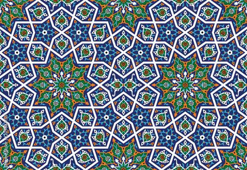 Arabic Floral Seamless Pattern.