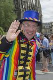 Gay-pride. Rouen 2018. Homme aux couleurs LGBT - 209834723